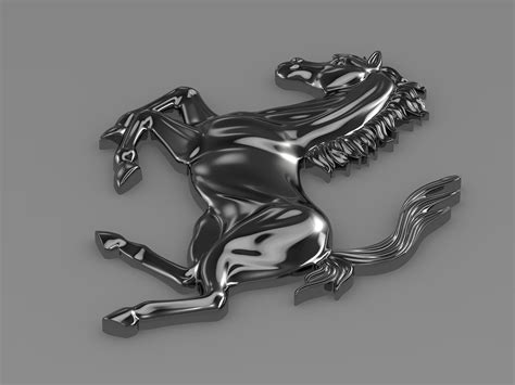 The logo resize without losing any quality. Ferrari horse logo 3D Model MAX OBJ 3DS FBX C4D LWO LW LWS   CGTrader.com