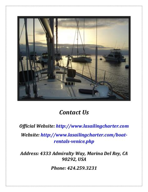 Charter Boat Venice by La Sailing Charter Boat Rental Venice