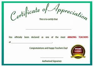 11 printable certificates of appreciation for teachers With certificate of appreciation for teachers template