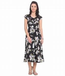 Buy Ridress Black Polyester Maxi Dress Online at Best ...