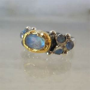 moonstone engagement ring 24k solid gold and by yifatbareket With 24k wedding ring