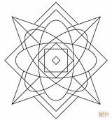 Kaleidoscope Coloring Pages Printable Drawing Puzzle Games Supercoloring Categories sketch template