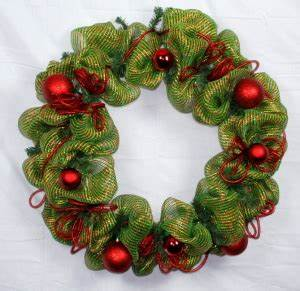 Christmas Decoration Ideas Deco Mesh Wreath