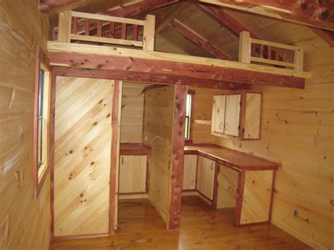 cabin loft ideas trophy amish cabins llc cottageoptional items in text Cabin Loft Ideas