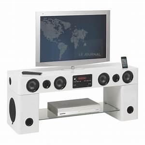 Meuble Tv Home Cinema Intégré : meuble tv avec enceinte maison design ~ Melissatoandfro.com Idées de Décoration