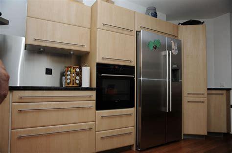 meuble cuisine frigo exemple cuisine americaine