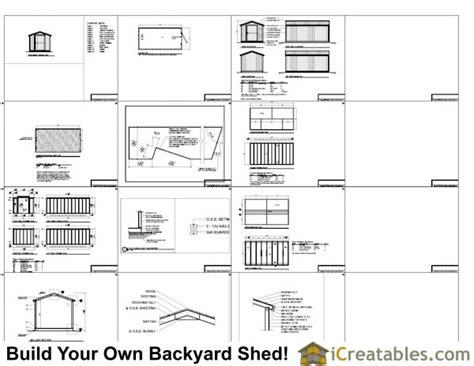 8x16 shed floor plan 8x16 gable shed with 8 foot wall shed plans