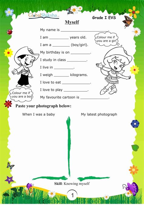 worksheets  kindergarten evs worksheets  class