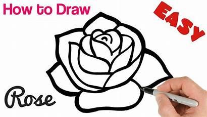 Rose Draw Easy Beginners Drawing Tutorial Roses