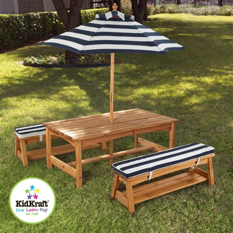 kidkraft outdoor table and chairs set 2 chair benches