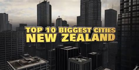 Top 10 Biggest Cities In New Zealand 2014 Youtube