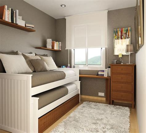 Small Room Design Double Loft Style Bed For A Small Room