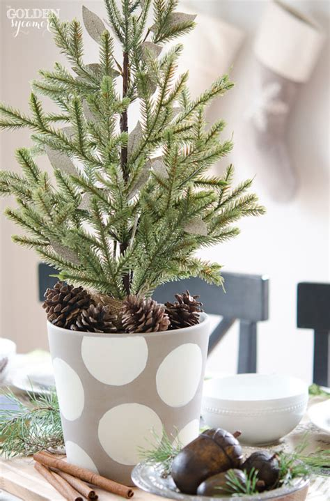 miniature evergreen christmas centerpiece the golden sycamore