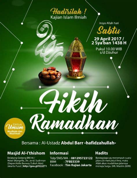 Choose from 2,680+ templates, edit and share with your community. Kajian Islam Ilmiah: Fikih Ramadhan - Jakarta   Markaz Dakwah untuk Bimbingan dan Taklim