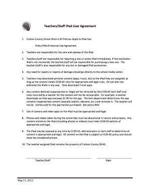 fillable teacher agreement form  edit  print