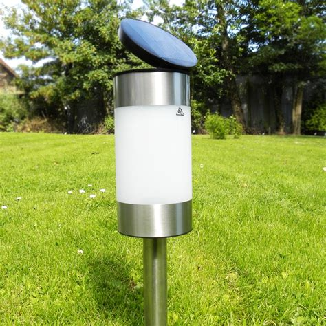 solar powered led effect l garden path