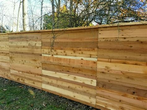 custom wood fence projects   straight  fence