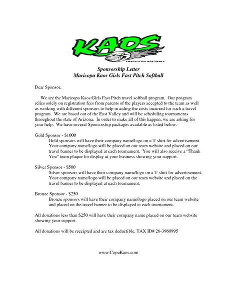golf tournament sponsorship letter template examples