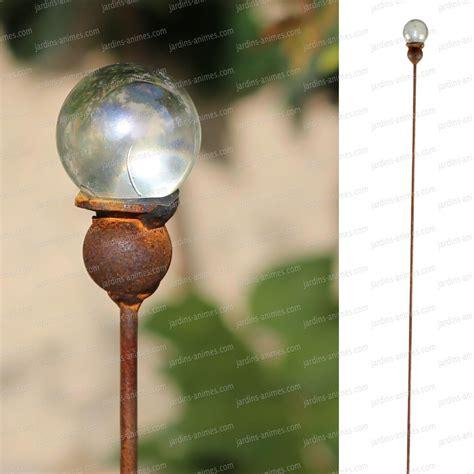 boule en verre tuteur acier boule en verre de 40mm tuteurs d 233 coratifs