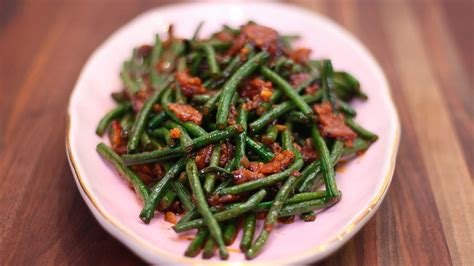 spicy stir fried chinese long beans recipe video