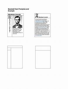 best photos of baseball trading card template printable With baseball card template microsoft word