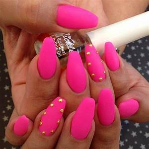 Pink matte coffin nails | Manicures | Pinterest | Pink ...