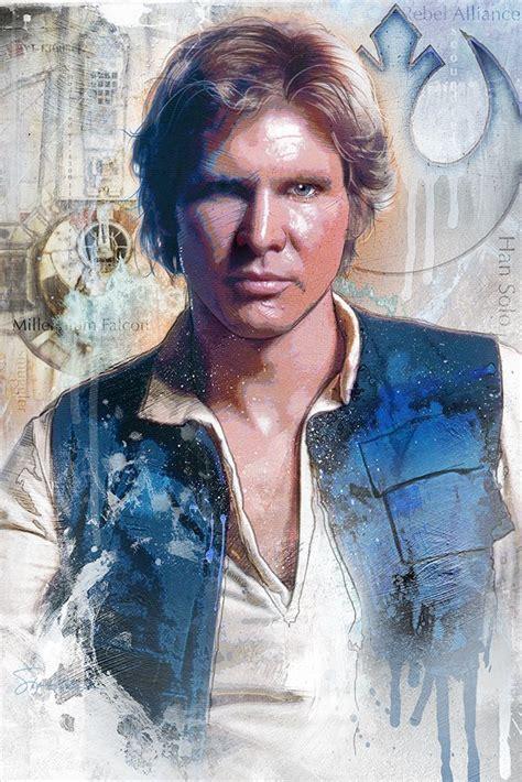 Han Solo by SteveAndersonDesign | Star wars prints, Star ...