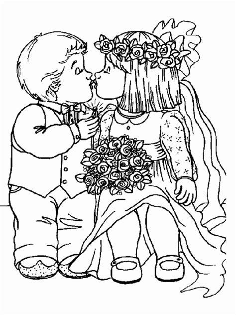 50 Jaar Huwelijk Kleurplaat by Kleurplaat Bruidspaar Fris Huwelijk Coloring Pages