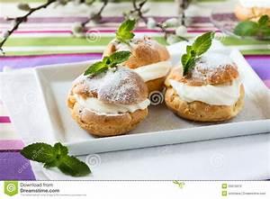 Profiteroles, Cream Puff, Traditional French Dessert Stock ...