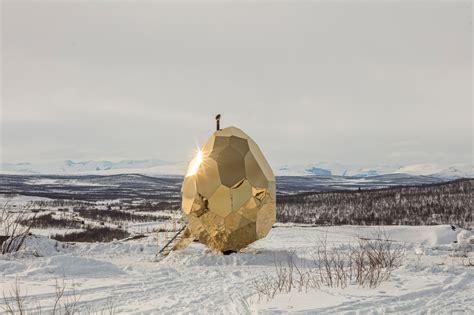 Solar Egg In Kiruna by Solar Egg A Sauna For Locals To Meet Design Milk
