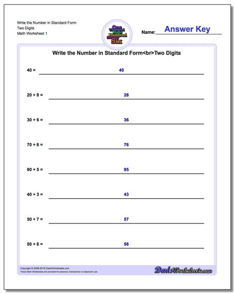 expanded form addition worksheets free second grade math
