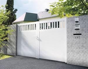 Portail Alu Pas Cher Brico Depot : portail pvc battant jersey haut 1 80 m brico d p t ~ Edinachiropracticcenter.com Idées de Décoration