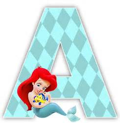 alfabeto de la sirenita con flounder oh my alfabetos alphabets 9 pinterest