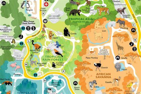 zoo map woodland park seattle maps zoos pdf wa section aquarium auction showing gift buildings leopards