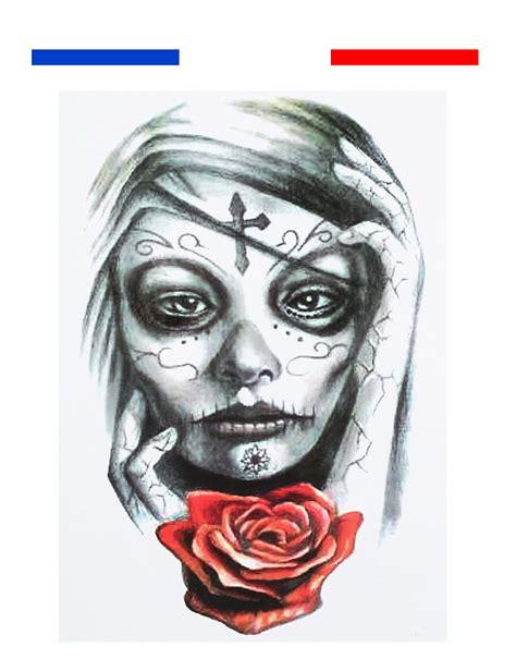 tatouage temporaire femme rose  croix mon petit