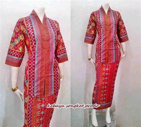 Kebaya Am 222 baju batik model kebaya motif songket prodo call order