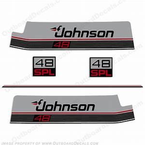 Johnson 48hp Spl Decal Kit 1987