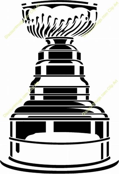 Stanley Cup Clipart Clip Line Trophy Cartoon