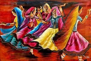 Indian Folk Dance Painting by Rekha Rai