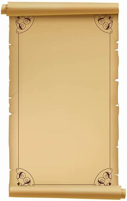 Scroll Transparent Clip Clipart Paper Scrolls Pergaminho