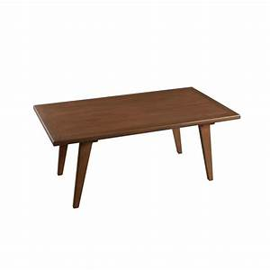 table basse rectangulaire bois cannelle 110x60x45 fanny With meuble 80x80x40 1 table basse en bois meuble salon pier import