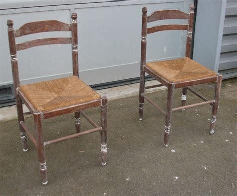 chaises paillées chaises pailléesart 39 ébèn