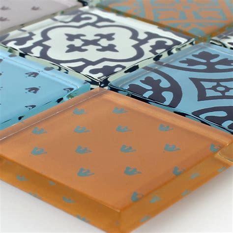 Badezimmer Fliesen Zementoptik by Muster Glas Mosaik Fliesen Zementoptik Bunt Mix In