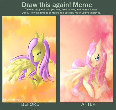 Meme And Neko - fluttershy before and after meme by neko luvz on deviantart