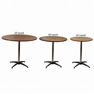 Round table 36quot 30quot 24quot celebrations party rentals for 36 inch round wood coffee table