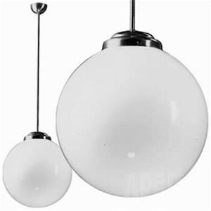 Lampe Globe Verre : luminaire globe 35 cm en verre souffl nickel chrom ~ Teatrodelosmanantiales.com Idées de Décoration