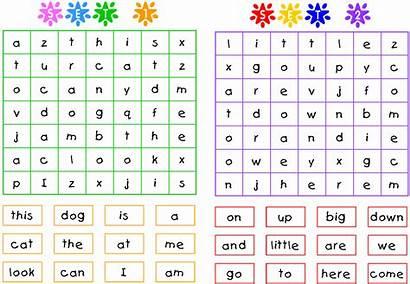 Sight Word Searches Words Activities Preschool Kindergarten