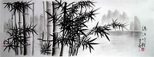 Chinese Bamboo Charcoal Drawing | An original Chinese ...