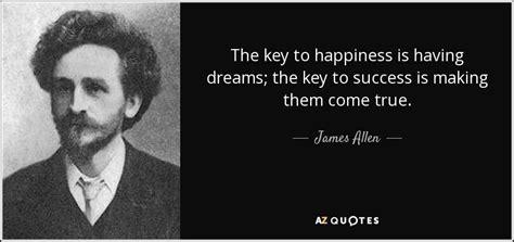 james allen quote  key  happiness   dreams