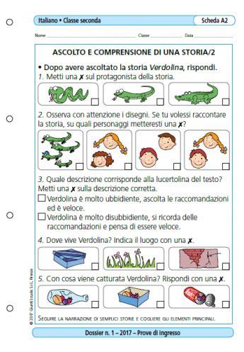 Prove D Ingresso Italiano Classe Seconda Scuola Primaria by Prove D Ingresso Italiano Classe 2 La Vita Scolastica
